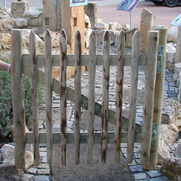 Gartentür aus Kastanienholz - Variante 2